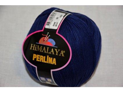 Příze Perlina 147 tm.modrá