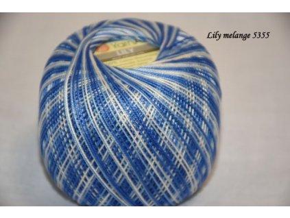 Lily melange 5355 modrá