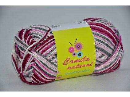 Camila natural multicolor 2527 šedo-růžovo-bílá