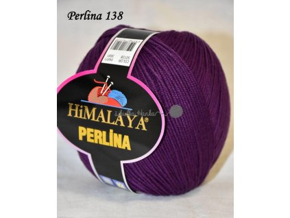 Příze Perlina 138 tm.fialová