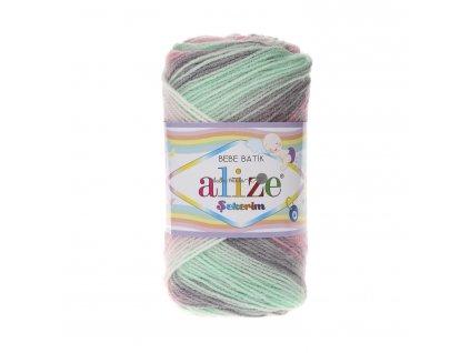 Sekerim bebe batik 6541 růžovo-zeleno-šedá