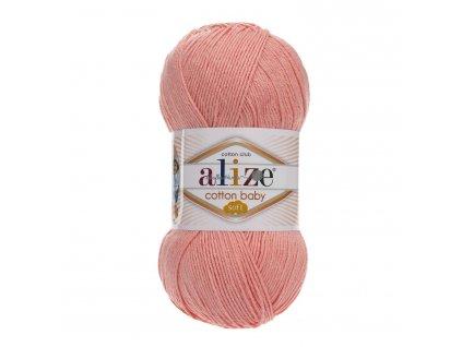 Cotton baby soft 145 lososová