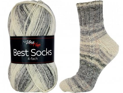 Příze Best socks 7324 světle šedá