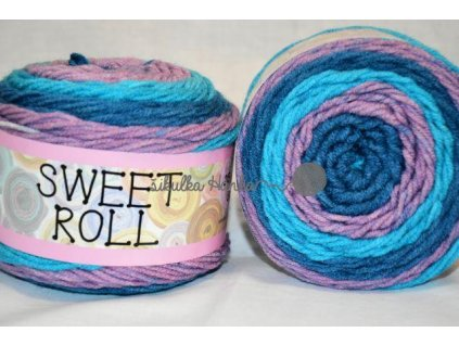 Sweet roll 14 tyrkysovo-fialová