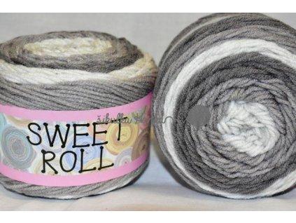 Sweet roll 11 šedo-bílá