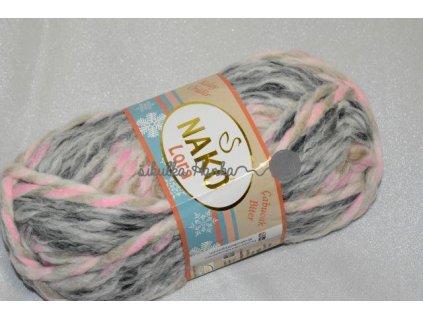 Příze Lora 28105 růžovo-šedá