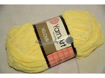 Příze Velour 844 žlutá