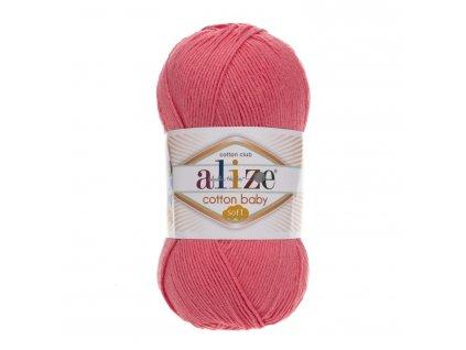 Cotton baby soft 33 růžová
