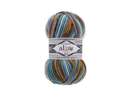 Superlana maxi multicolor 52145 tyrkysovo-barevná