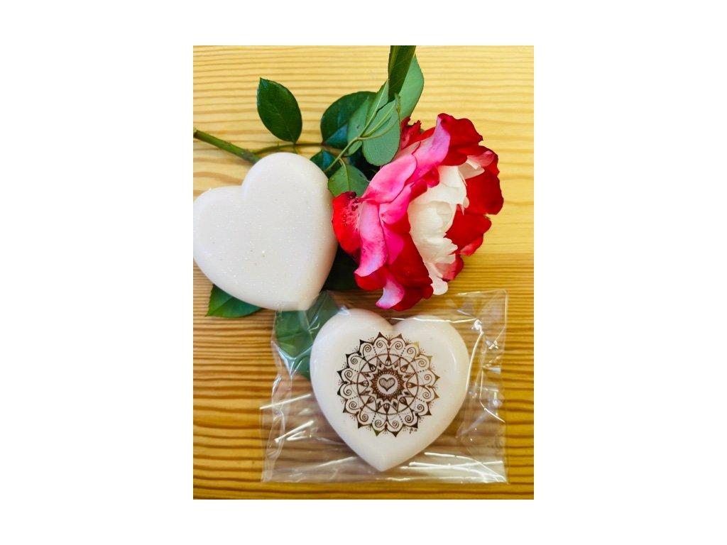 Voňavé mýdlo SRDÍČKO s damašskou růží