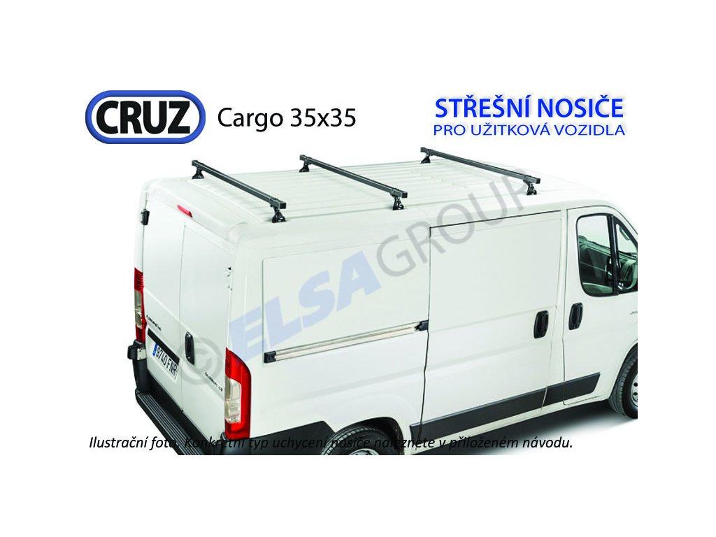 Střešní nosič Citroen Jumper / Fiat Ducato / Peugeot Boxer / Iveco Daily (3 příčníky 35x35), CRUZ