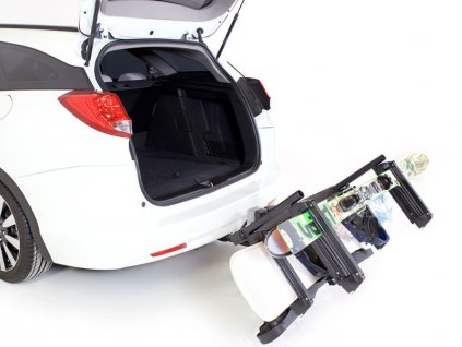 Nosič lyží TowCar Aneto - 4 páry lyží, na tažné zařízení