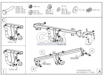 362738 tazne zarizeni volkswagen caddy maxi 2015 bajonet galia