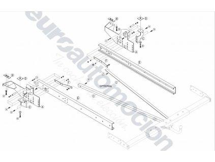 Tažné zařízení pro obytné vozy Citroen Jumper 250 / Fiat Ducato Y / Peugeot Boxer Y 06-