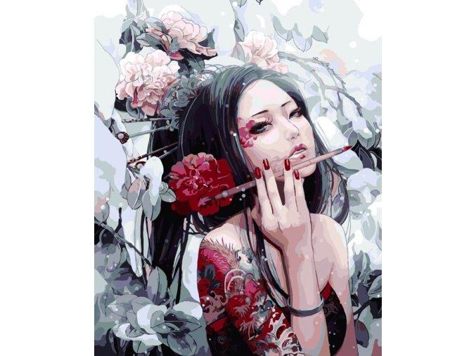 Žena v květinách
