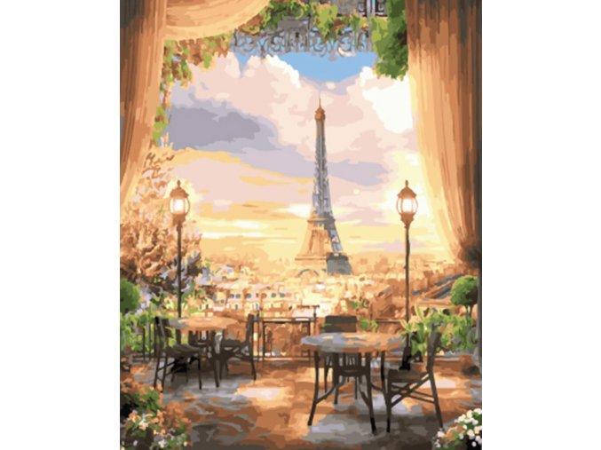 Paříž oknem kavárny