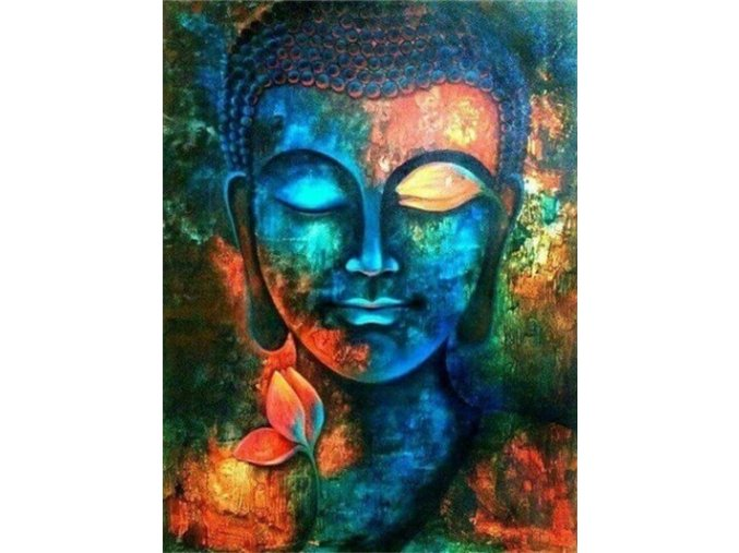 Barevný Buddha