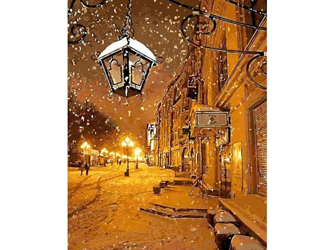 Ticho zasněžené ulice