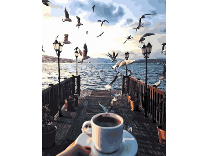 Káva na molu