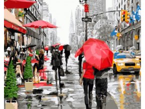 New York v dešti