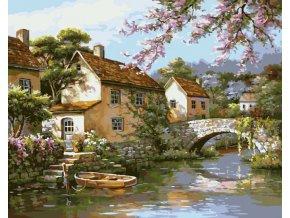 Vesnička u řeky