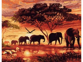 Západ slunce v Africe