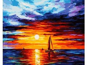 Západ slunce nad mořem