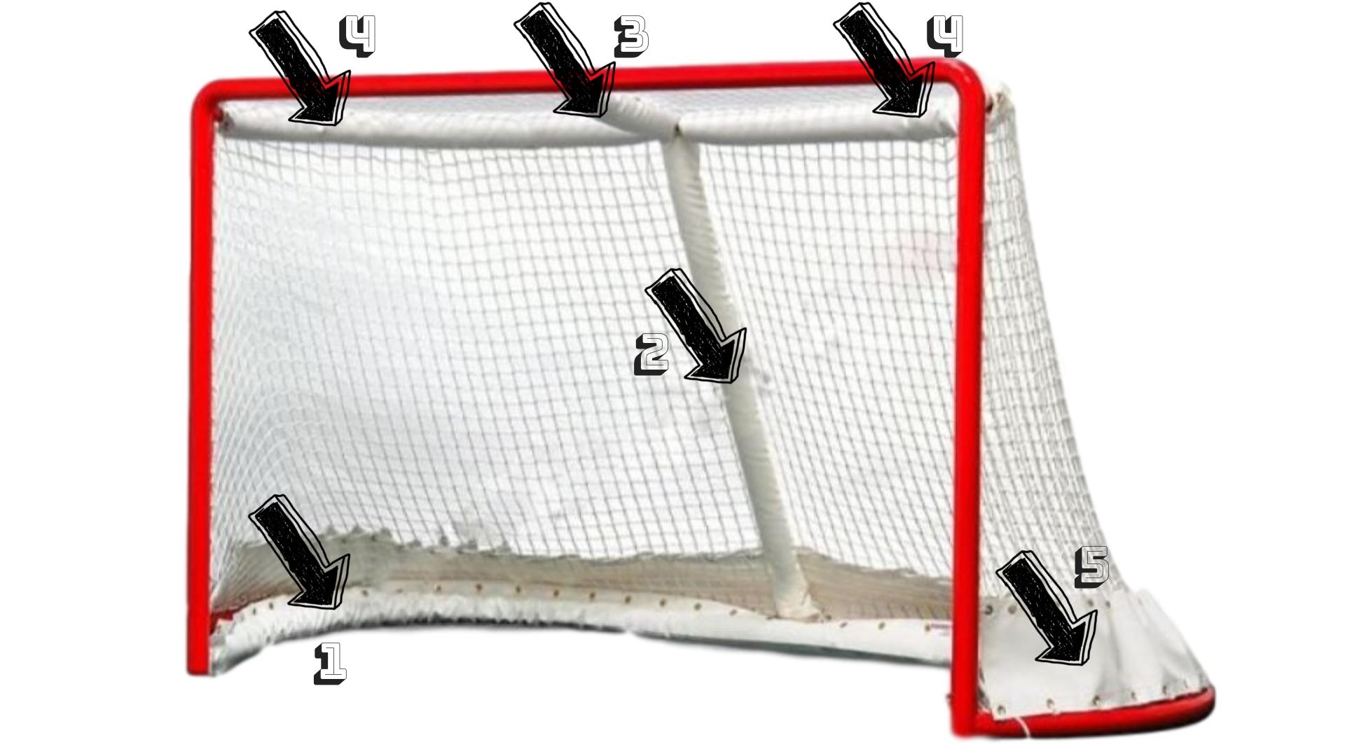 Extraligová hokejová brána (1,83x1,22m) s príslušenstvom