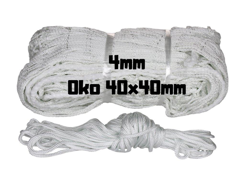 hokejova siet 4mm, hokejová sieť 4mm, sieť do hokejovej brány, siet do hokejovej brany
