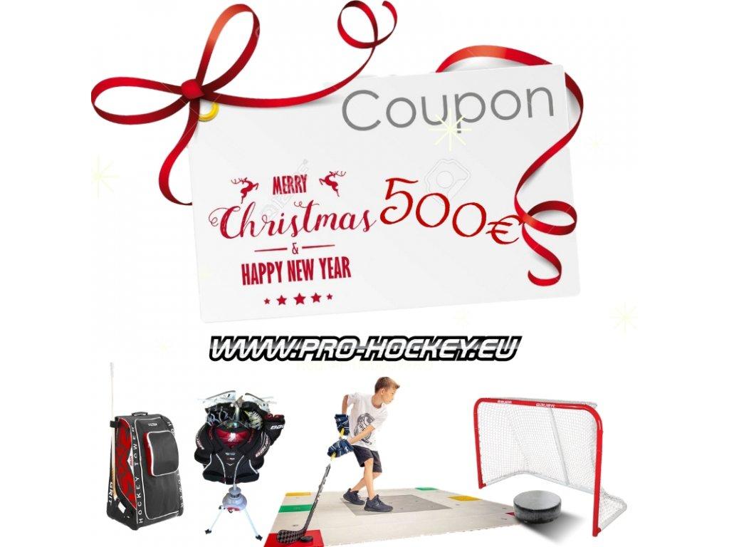 vianocny kupon, kupon na darceky, vianocna poukazka, poukazka pre hokejistu, darček pre hokejistu, hokejovy darcek