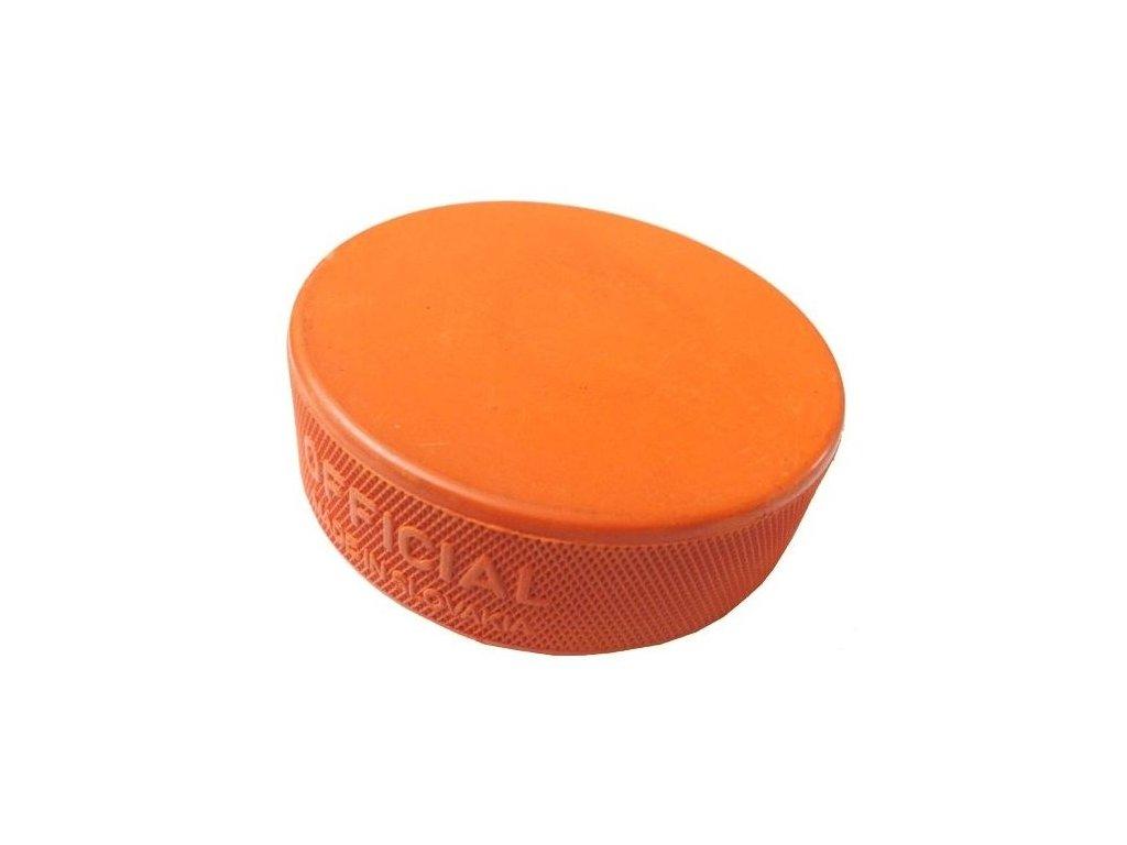 Hokejový puk 1.trieda ťažký oranžový