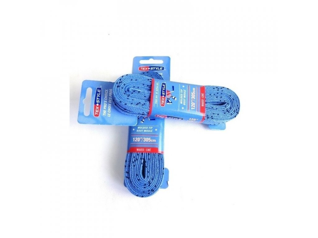 voskove snurky do korcul tex style 274 cm svetlo modre