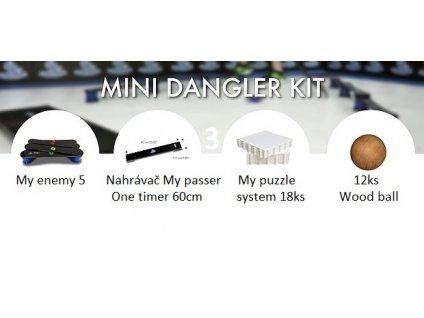 3.mini dangler kit, nahravac my passer, 3.mini dangler kit, hockey revolution, hokejova podlaha, hokej, trening, treningova loptička, wood ball, hokejovy treningovy set