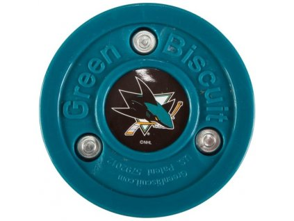 Stickhandling puk – Green Biscuit Original San Jose Sharks