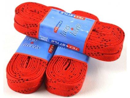 Voskové šnúrky do korčúľ červené