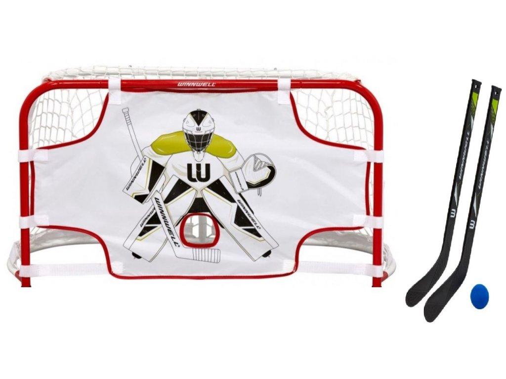 """mini set quiknet, dětský mini set, detska hokejová branka, dětská hokejová branka 31 """"s plachtou, dětská hokejová branka s plachtou a hokejkamimini set quiknet"""