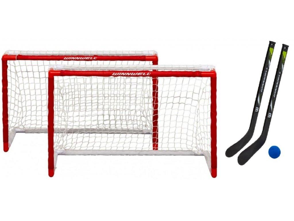 dětská mini plastova branka, double pvc set, Winnwell pvc mini net set, detksy hokejový set, hokejová branka s hokejkami, hokej na dvoře, hokej, branky pro děti