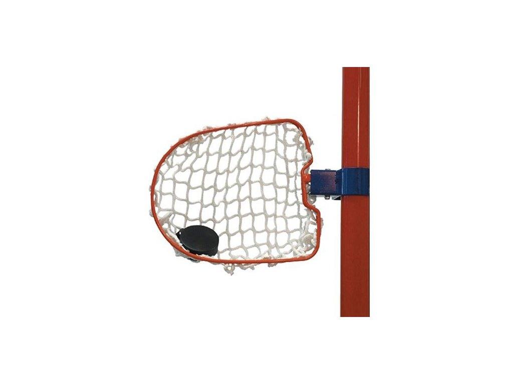 Kovový střelecký terč Winnwell, hokejový trénink, hokejová míček, hokejový puk, střelecká deska, hokejová podlaha, hokejová brána