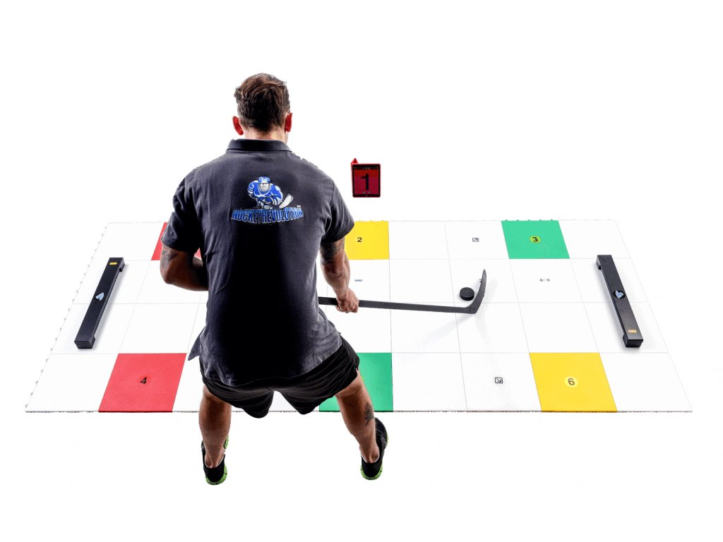 My puzzle system 36 ks 297x132cm + 2ks One Timer, hokejový trénink, hokejová míček, hokejový puk, střelecká deska, hokejová podlaha, hokejová brána