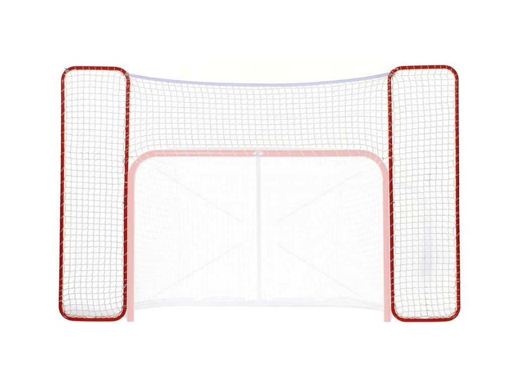 """Postranní síť 72"""" s kovovou konstrukcí, hokejový trénink, hokejová míček, hokejový puk, střelecká deska, hokejová podlaha, hokejová brána"""