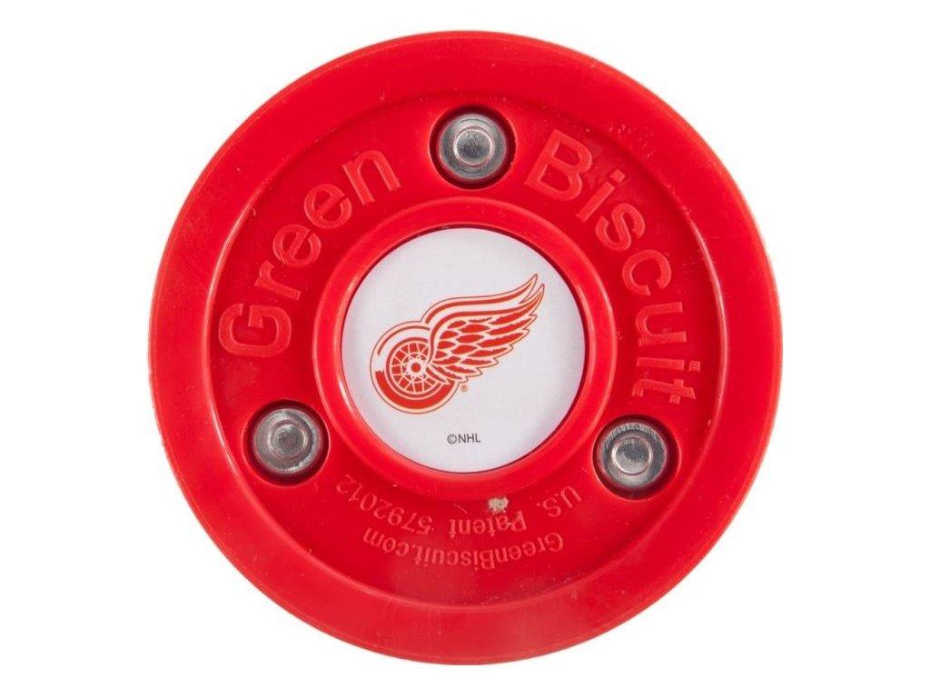 Stickhandling PUK - GREEN BISCUIT Detroit Red Wings, hokejový trénink, hokejová míček, hokejový puk, střelecká deska, hokejová podlaha, hokejová brána, sušák hokejové výstroje, chránič zubů, tkaničky do bruslí, střelecká plachta, střelecký terč, my enemy, trénink techniky s pukem