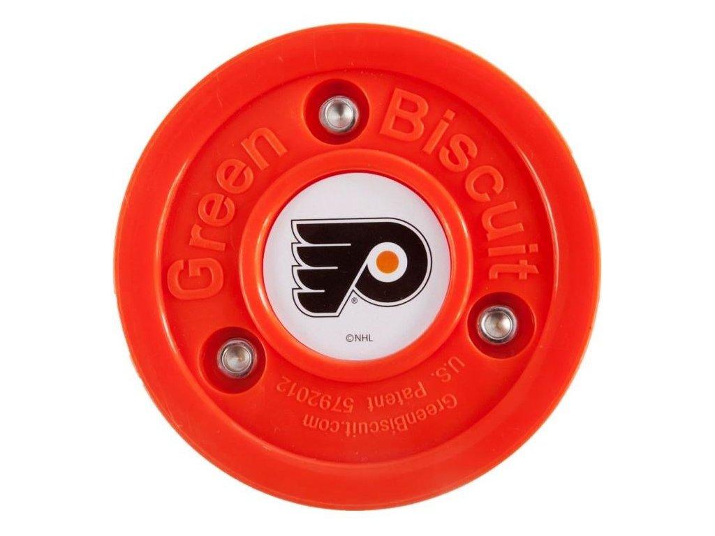 Stickhandling PUK - GREEN BISCUIT Philadelphia Flyers, hokejový trénink, hokejová míček, hokejový puk, střelecká deska, hokejová podlaha, hokejová brána, sušák hokejové výstroje, chránič zubů, tkaničky do bruslí, střelecká plachta, střelecký terč, my enemy, trénink techniky s pukem