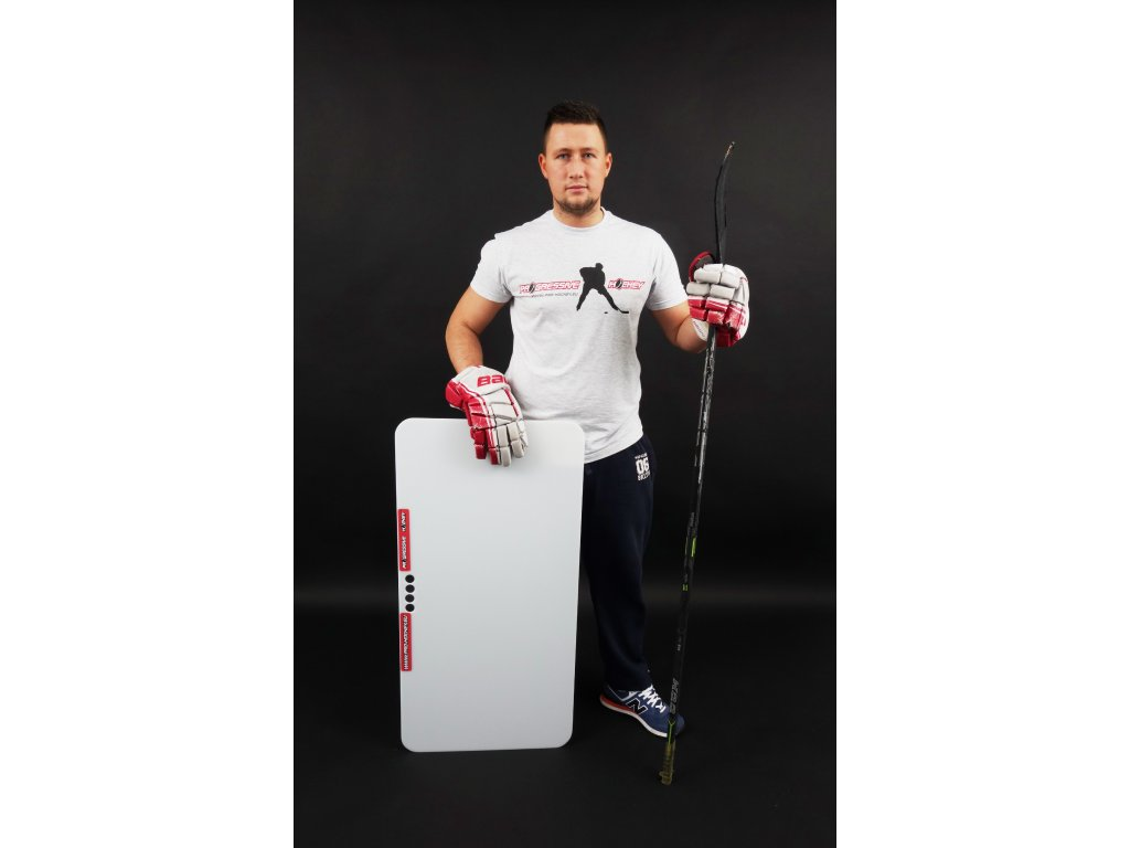 střelecká deska Shooting Pad, hokejový trénink, hokejová branka, hokejový míček, hokejový puk