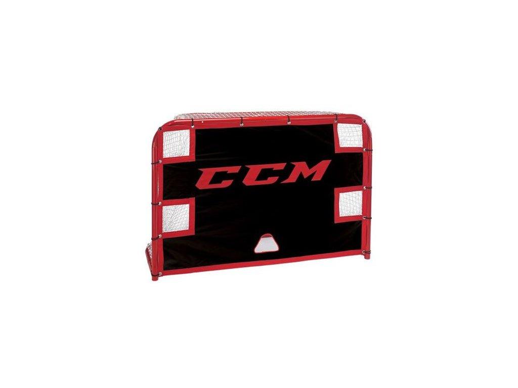 """Střelecká plachta CCM 72"""" Street Shooter Tutor, hokejový trénink, hokejová brána, hokejový puk, hokejová míček, nahrávač, střelecká deska, hokejová podlaha"""