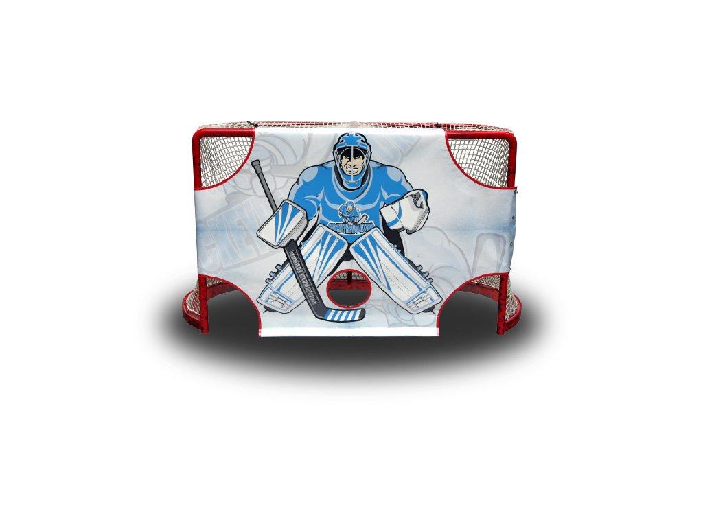 """Střelecká plachta Hockey Revolution 72"""", hokejový trénink, hokejová brána, hokejový puk, hokejová míček, nahrávač, střelecká deska, hokejová podlaha"""