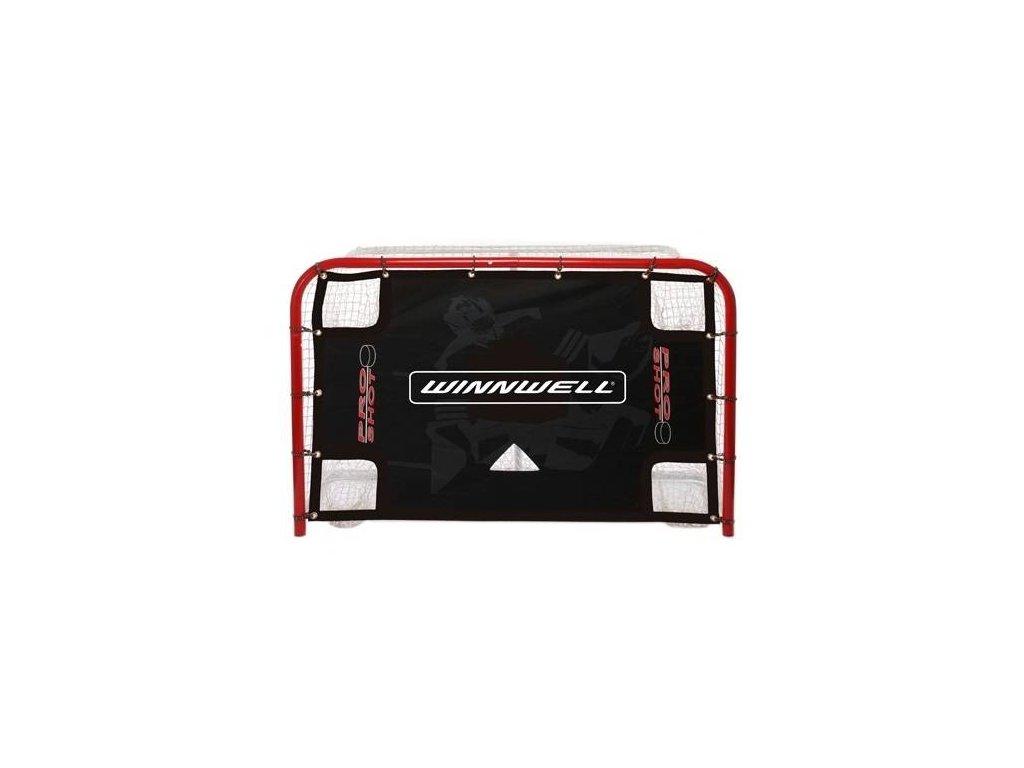 """Střelecká plachta Winnwell 72"""" Pro Shot s lapači, hokejový trénink, hokejová míček, hokejový puk, střelecká deska, hokejová podlaha, hokejová brána"""