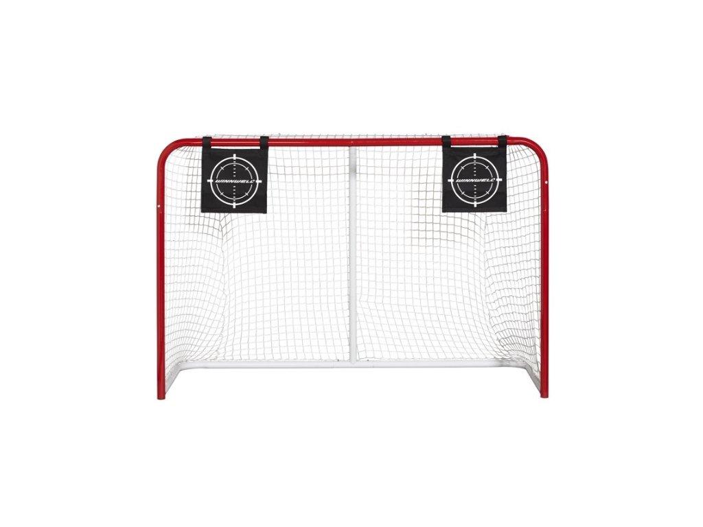 Střelecký terč na puky, hokejový trénink, hokejová míček, hokejový puk, střelecká deska, hokejová podlaha, hokejová brána