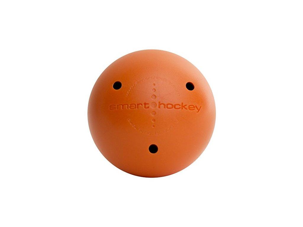 Tréninkový míček Smart Ball oranžový, hokejový trénink, hokejová míček, hokejový puk, střelecká deska, hokejová podlaha, hokejová brána, sušák hokejové výstroje, chránič zubů, tkaničky do bruslí, střelecká plachta, střelecký terč, my enemy, trénink techniky s pukem
