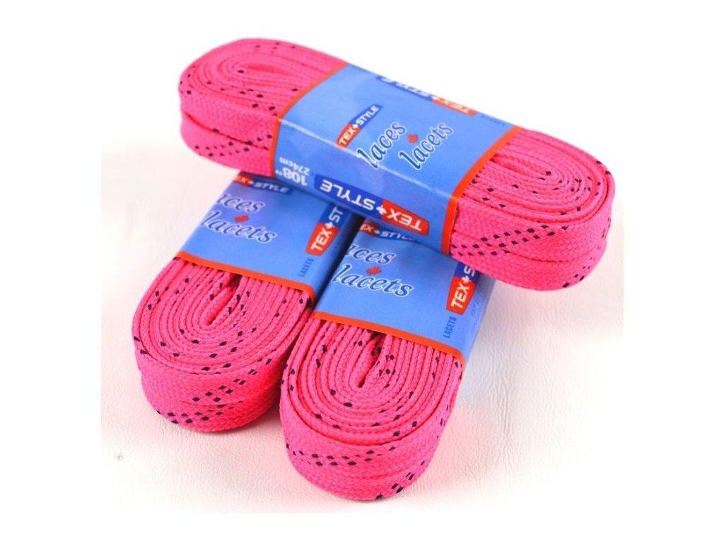 Voskové tkaničky do bruslí růžové, hokejovy trenink
