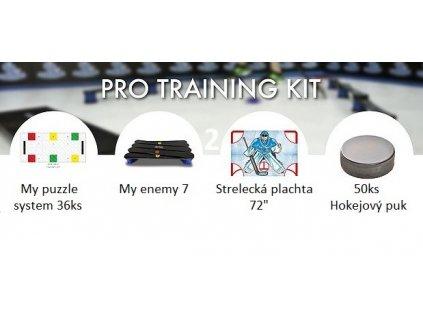2.pro trainig kit cz, my puzzle system pro, 2.pro trainig kit,  2.pro trainig kit, trénkový set pro hokejistu, trénink, hokej, hokejový set, tréninků set, trenink pro hokejisty, hokejová podlaha, trenink dovednosti, střelecka plachta na branu